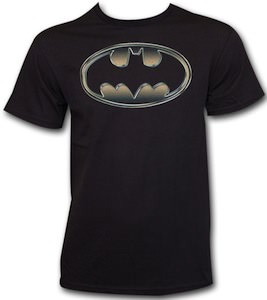 Batman Golden Embossed Logo T-Shirt