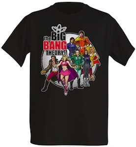 Big Bang Theory Comic Book Heroes T-Shirt