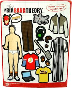 The Big Bang Theory Sheldon Dress Up Magnet Set