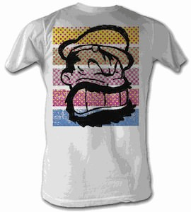 Popey - Brutus Colored Stripes T-Shirt