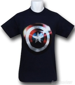 Captain America Shiny Shield T-Shirt