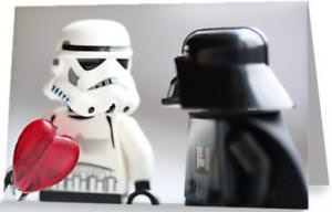 Star Wars Darth Vader Storm Trooper valentine's Card