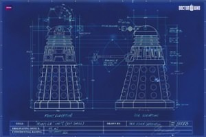 Dalek Blue Print Poster from Doctor WHo