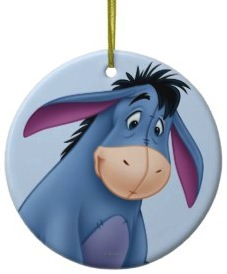 Eeyore Christmas Ornament