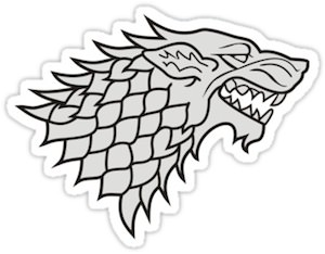 Games Of Thrones House Stark Logo Sticker