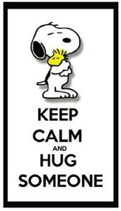 Snoopy Keep Calm And Hug Someone Magnet