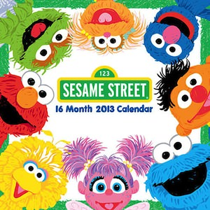 Sesame Street Wall Calendar 2013