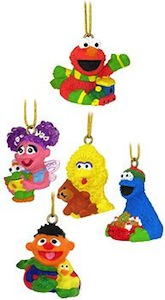 Sesame Street 5 piece Christmas Ornament Set