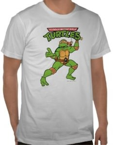 Teenage Mutant Ninja Turtle Michelangelo Pose T-Shirt