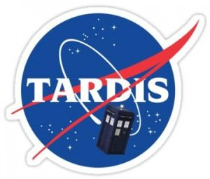 Tardis Space Program NASA Sticker