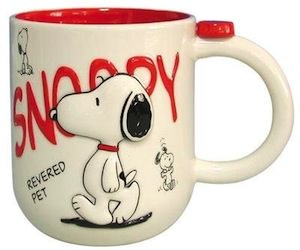 Peanuts White And Red Snoopy Mug