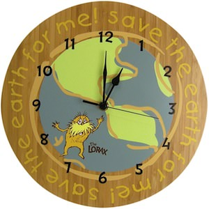 Dr. Seuss The Lorax Wall Clock