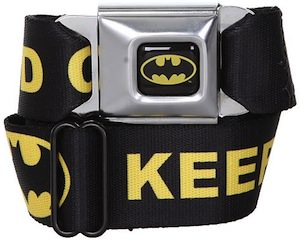 Batman Seat Belt Style Belt