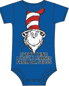 Cat In The Hat Everything I Learned Bodysuit