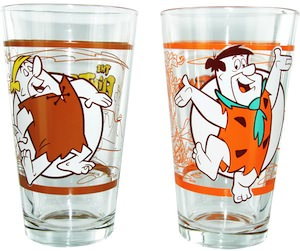 Fred Flintstones And Barney Pint Glass Set