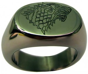Game Of Thrones House Stark Logo Ring