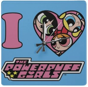 I Love the Powerpuff Girls wall clock