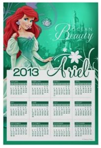 Little Meraid Wall Calendar 2013