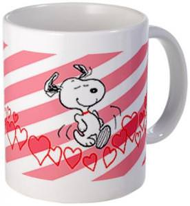 Snoopy Running For Love Mug