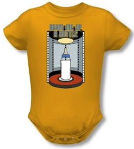 Beam Me Up A Bottle Baby Bodysuit