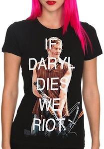 The Walking Dead If Daryl Dies We Riot T-Shirt