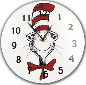 The Cat In The Hat Wall Clock