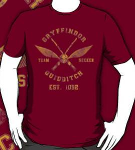 Harry Potter Gryffindor Quidditch Team T-Shirt