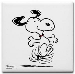 Snoopy Dancing Coasters