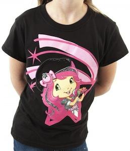 Strawberry Shortcake Glitter Rock Star T-Shirt