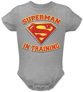 Superman In Training Baby Bodysuit