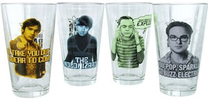 The Big Bang Theory Character Pint Glasses Set