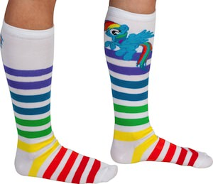 Rainbow Dash Striped Socks