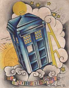 Doctor Who Time Lord And Tardis Poster