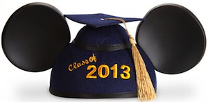 Mickey Mouse Ears Graduation Hat