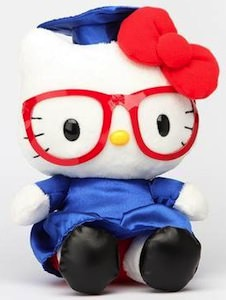 "Hello Kitty 8"" graduation plush"