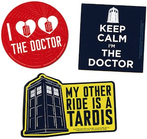 Special Doctor Who car magnets