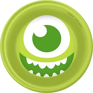 Monsters Inc Mike Waszowski Paper plate