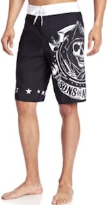 Black Sons Of Anarchy Logo Board Shorts