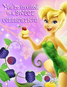Disney Fairy Tinker Bell Sweet Celebration Invitations