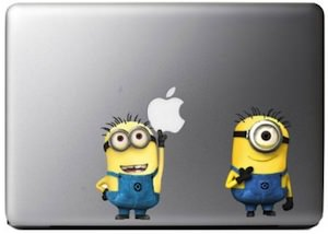 Despicable Me Laptop Decal with Minions