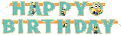 Despicable Me Minion Happy Birthday Banner