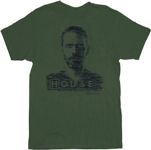 Gregory House Portrait T-Shirt