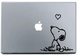 peanuts laptop decal of Snoopy
