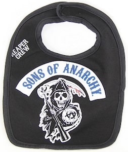 Sons Of Anarchy Reaper Baby Bib