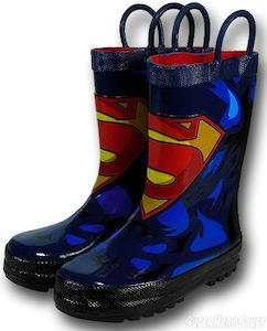 Superman Logo Rain Boots