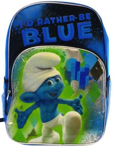 The Smurfs I Rather Be Blue Backpack