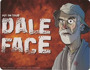 The Walking Dead Put On Your Dale Face Mousepad