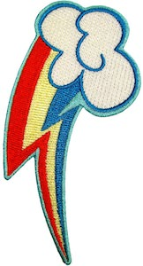 My Little Pony Rainbow Dash Cutie Mark Clothing Patch