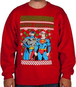batman superman christmas sweater