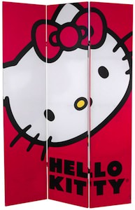 Hello Kitty Face Room Divider